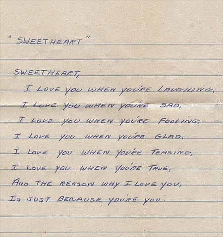 sweetheart a love poem