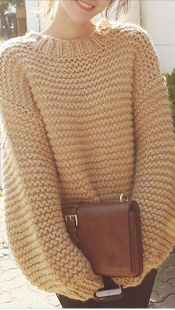 Knitting Patterns For Chunky Wool Sweaters : Best 25+ Knit sweaters ideas on Pinterest Winter sweaters, Chunky sweater o...