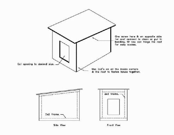 Single Sheet Of Plywood Doghouse Woof Woof Pinterest