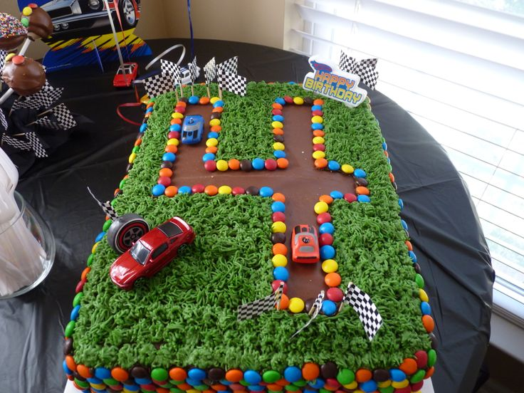 Easy Race Car Birthday Cake