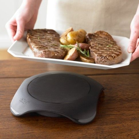 $40. Magma Hot Plate | Williams-Sonoma. Warm plate in microwave to help keep foods warm up to an hour.