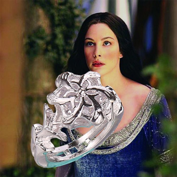 Модели персонализированные подарки аксессуары 2016 блокбастера фильм властелин колец хоббит королева фей санкт Yinhua CZ кольцо женские модели