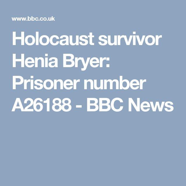 Holocaust survivor Henia Bryer: Prisoner number A26188 - BBC News