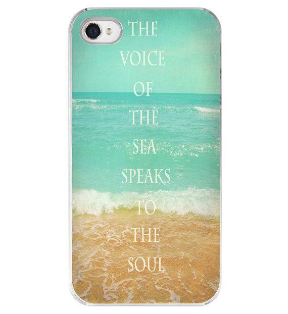 Iphone Case - Beach Quote Aqua Ocean Beachy Summer Iphone 4 4s Cover. $32.00, via Etsy.