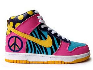 Zebra Pattern Nike High Tops Shoes Dot Pink For Woman