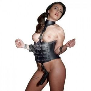 Leather Harness Dildo – Sexy Vibes