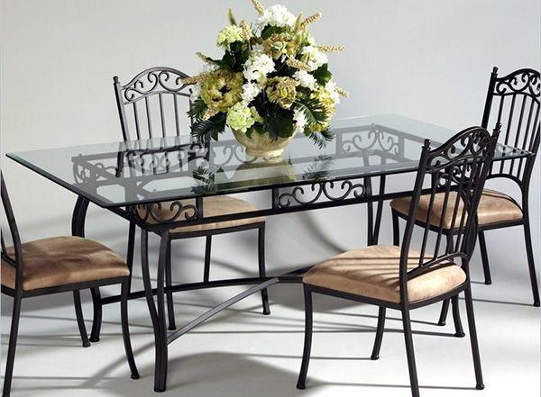 Ferforje Masa Farklı Modelleri Ile, Wrought Iron Dining Table And Chair Set