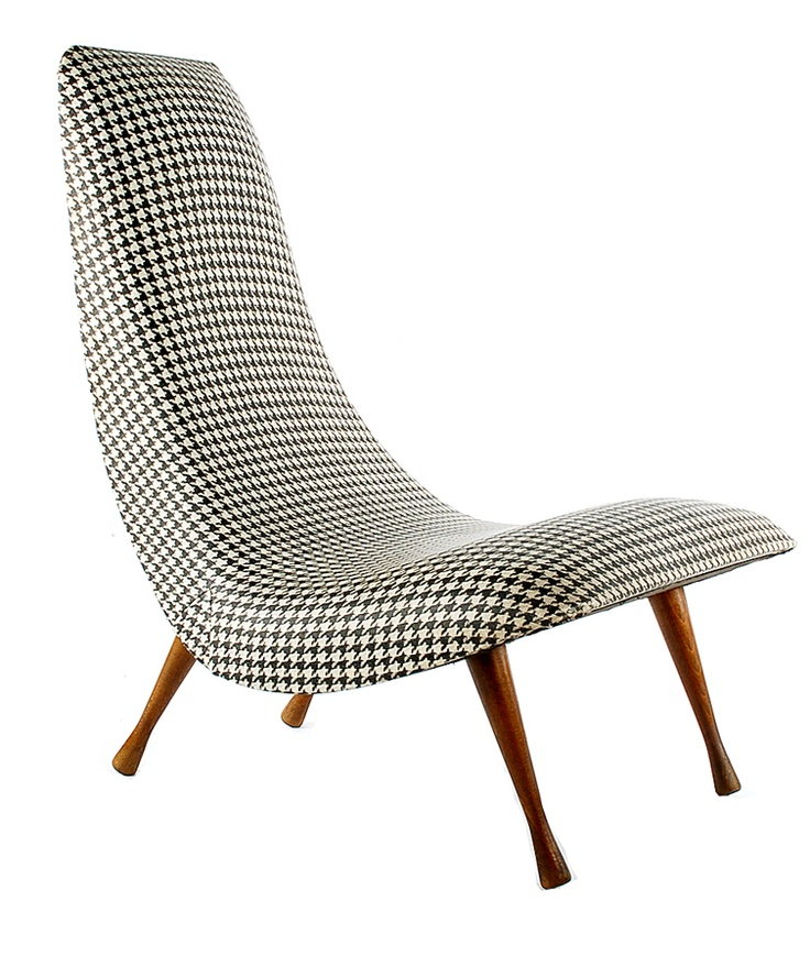 9 best images about vintage houndstooth home decor and furniture on pinterest upholstery - Selig eames chair ...
