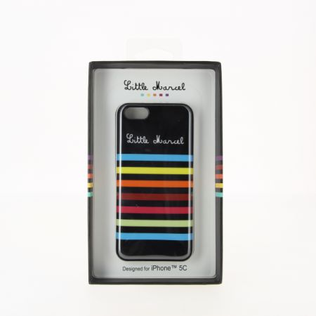 Coque rigide Stripes noir pour iPhone 5C