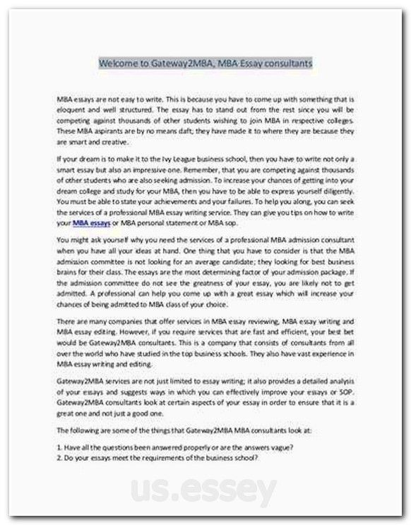Mba admission essay buy a good