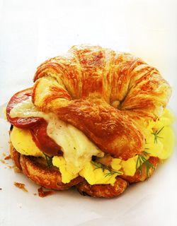 Scrambled Egg and Dill Havarti Croissants: Dill Havarti, Scrambled Eggs, Eggs Dill, Delicious Eggs, Breakfast Food, Eggs Recipe Breakfast, Havarti Croissants, Eggs Croissants, Breakfast Brunch