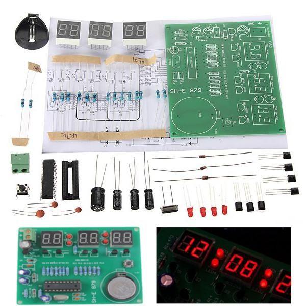 10pcs Diy 6 Digital Led Electronic Clock Kit 9v 12v At89c2051