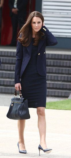 Kate MIddleton-style is always welcome: Duchess Of Cambridge, The Duchess, Style, Roland Mouret, Katemiddleton, Outfit, Kate Middleton, Blazers, Navy