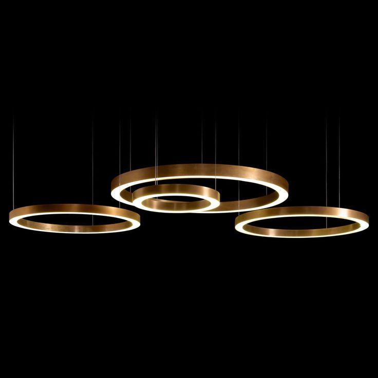 Lampada a sospensione / moderna / indoor / in argento RING by Massimo Castagna Henge