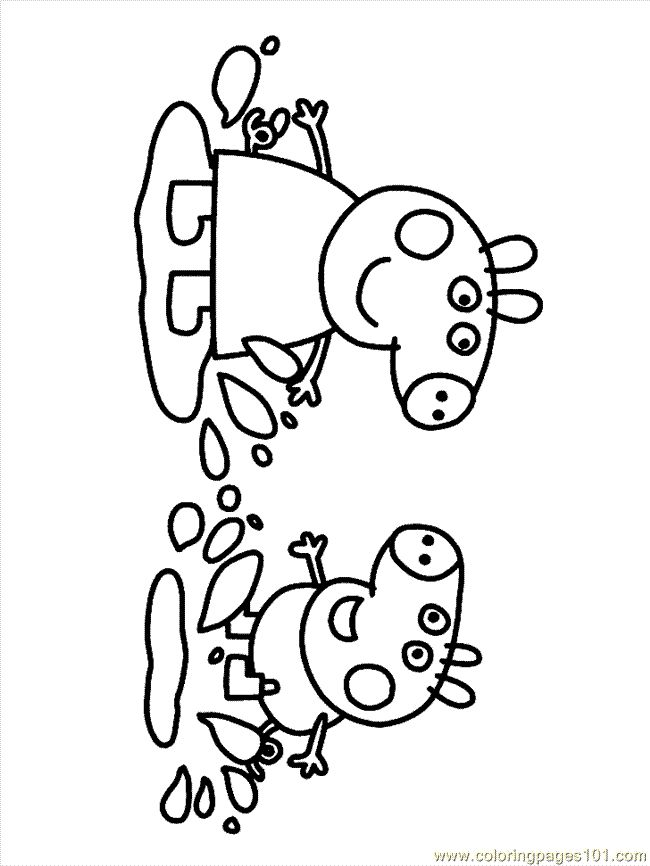 peppa pig brother coloring pages - photo#9