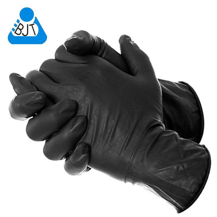 Бесплатная доставка 50 шт. черный одноразовые латексные экзамен татуировки медицинские перчатки большая X большой купить на AliExpress