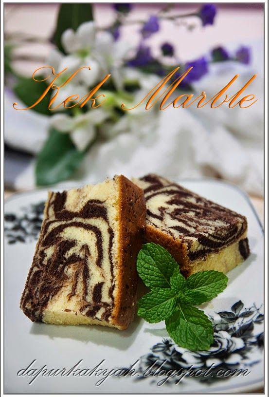 Dari Dapur Kak Yah: Kek Marble