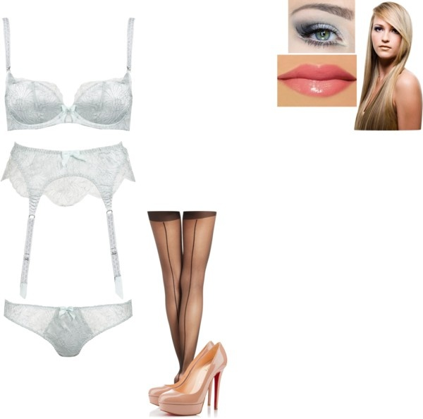 """Sarah's lingerie shoot"" by carrotcakelova ❤ liked on Polyvore"