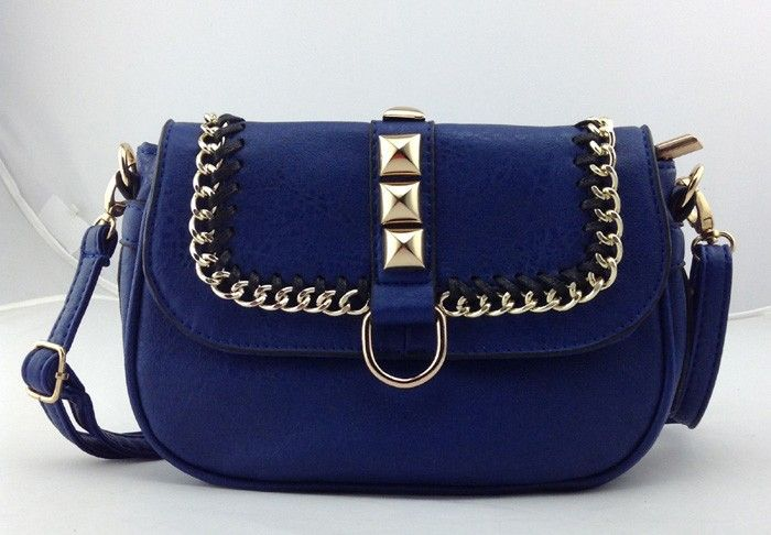 Chain and Stud Bag Cobalt Blue