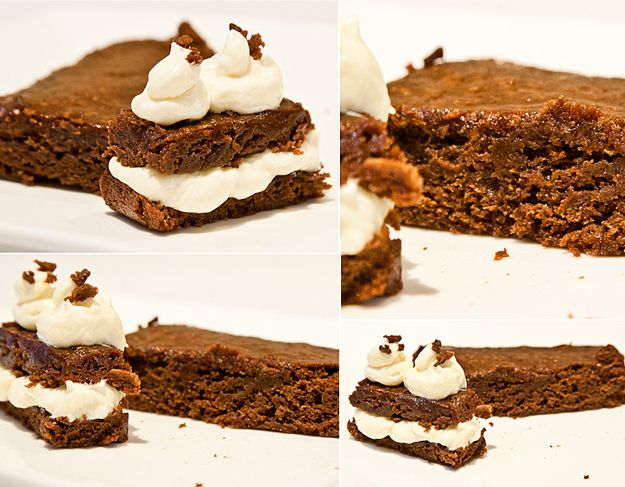 Brownies with Vanilla Cream