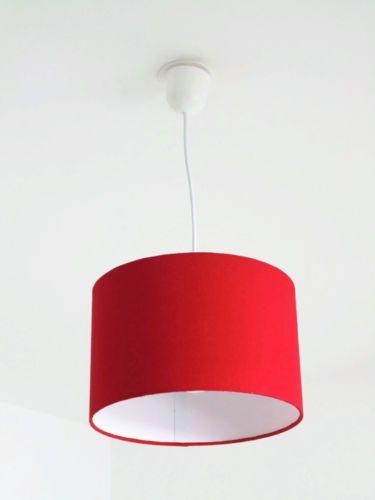 Lustre-rouge-abat-jour-cylindrique-rond-28cm-cylindre-fil