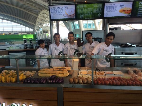 Executive Chef Nyoman and his team at La Place Bali  #Bali #Indonesia #Airport