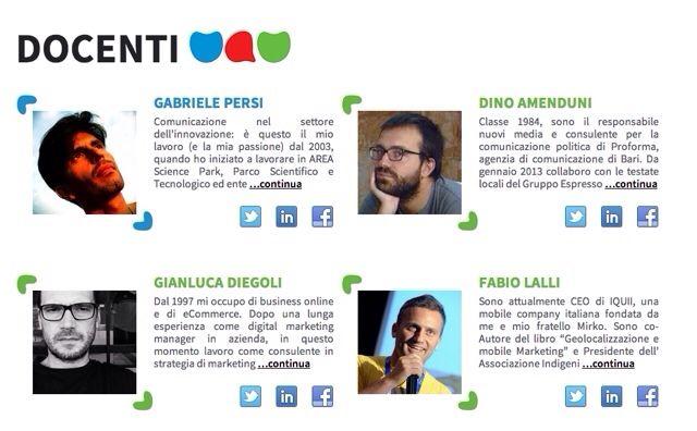 Gente brava @Gianluca Diegoli @Fabio Lalli @Lorna Thomas. E un intruso, nella @UauAcademy di venerdì #socialmedia