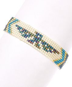 Look what I found on #zulily! Midnight Thunderbird Beaded Adjustable Bracelet #zulilyfinds