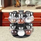 16-Piece Revolving Spice Rack, Clear