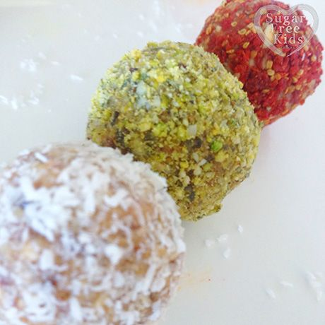 Colourful Christmas Balls recipe for Edible Gifts - Sugar Free Kids