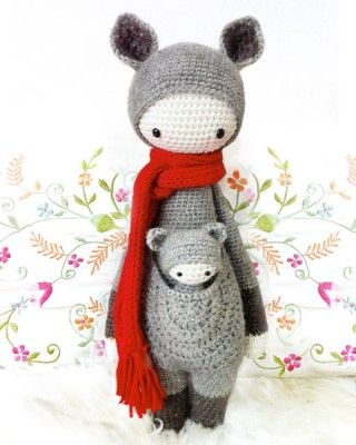"""Kira"" the Kangaroo crochet pattern. This would be so much fun to make...if I ever learn how to crochet."