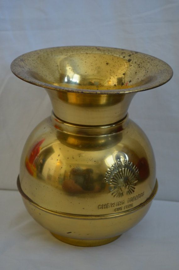 Vintage Brass Redskin Brand Chewing Tobacco Cut by FloridaFinders, $25.00