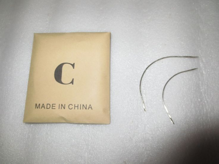 12 pcs/bag big 9 C Shape Curved Needles Wig making crochet braids ventilating Hair weaving needle agulha wigs agujas