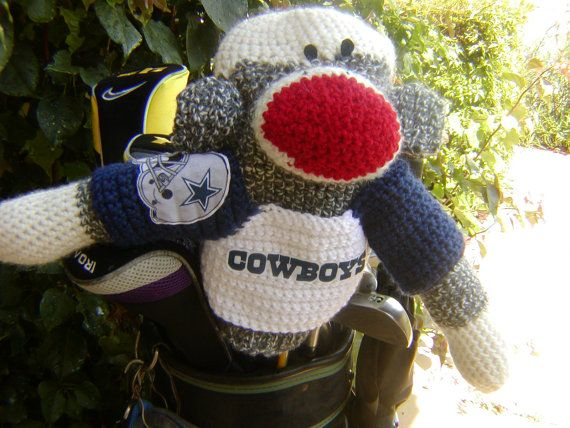 Sock Monkey Golf Club Cover  Dallas Cowboys or by pillowtalkswf, $40.00