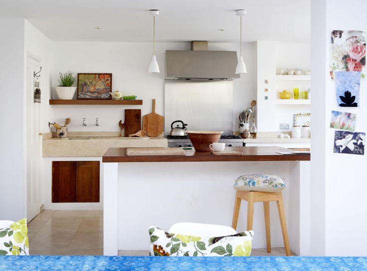 gemauerte theke mit holzplatte k che essen pinterest. Black Bedroom Furniture Sets. Home Design Ideas