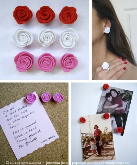 no-fuss foam roses - made with foam sheets and scalloped scissors