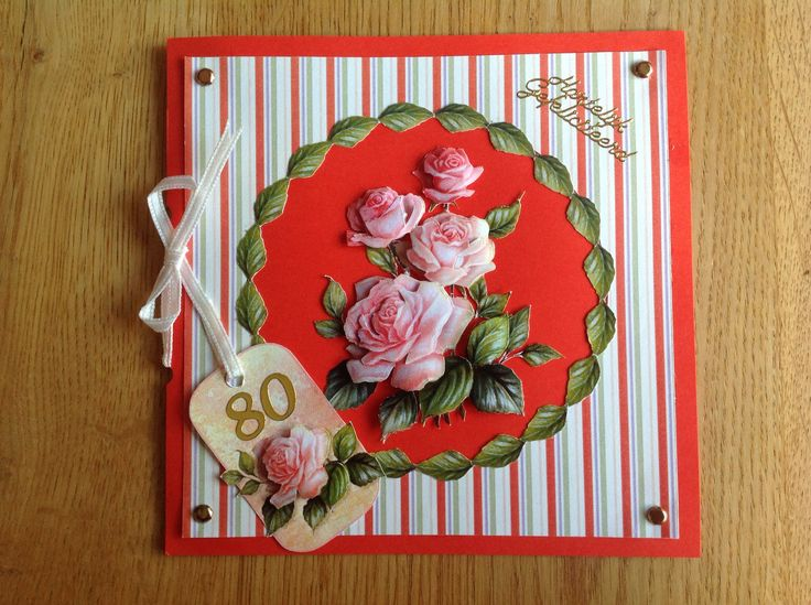 3D card with roses - 3D kaart met rozen