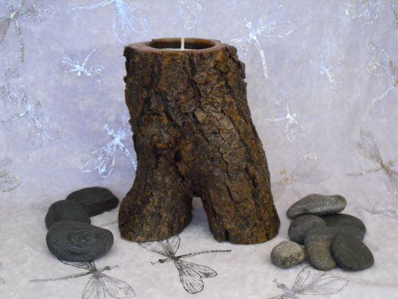 Wood Candle Holder-Tea Candle by CreeksideWoodStudio on Etsy