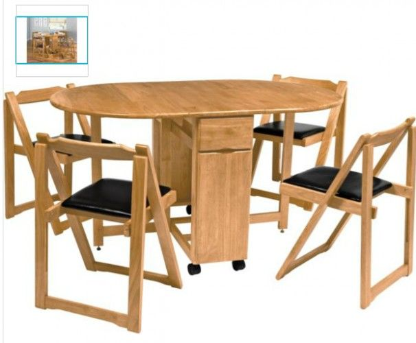 MULTIFUNCTION FOLDING DINING TABLE AND CHAIRS Luxury Folding