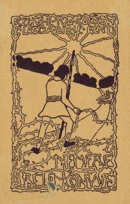 Bookplate by Sándor Nagy for Nemere Béla, 1900c.