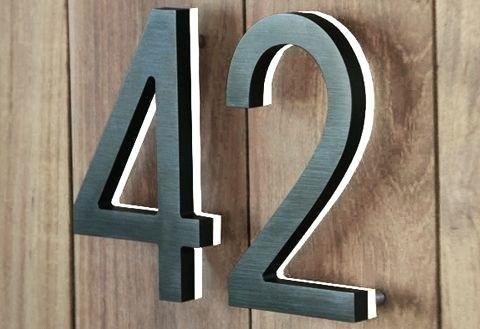 Image Result For Luxello Modern 8 Backlit Led House Numbers Led House Numbers Led House