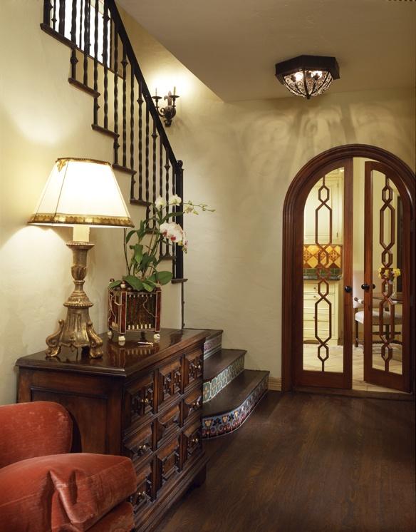 Jamie Foyers Traditional : Encanto entry hardwood floors spanish tile arch