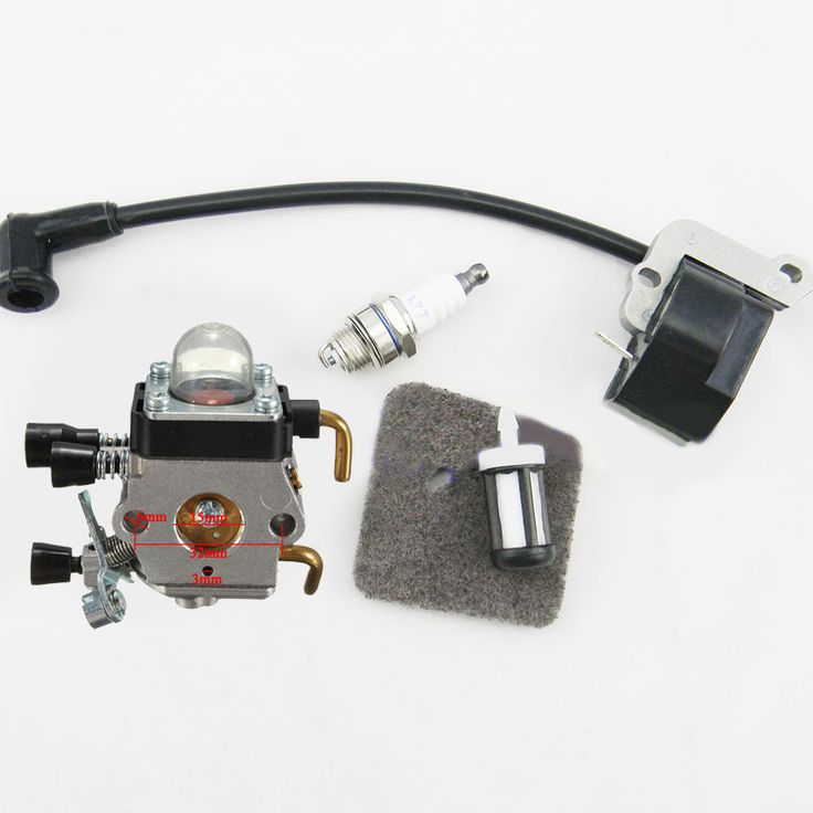 TOP SELL Carburetor for STIHL FS38 FS55 FC55 FS45 FS46 KM55 HS45 Carb Ignition Coil Trimmer Chainsaw 4140 400 1308