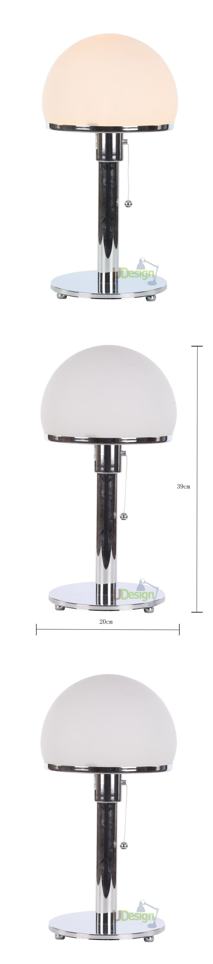 Designer lighting Replica WG24 Wilhelm Wagenfeld -Bauhaus lamp chrome base table lamp -Bauhaus lamp