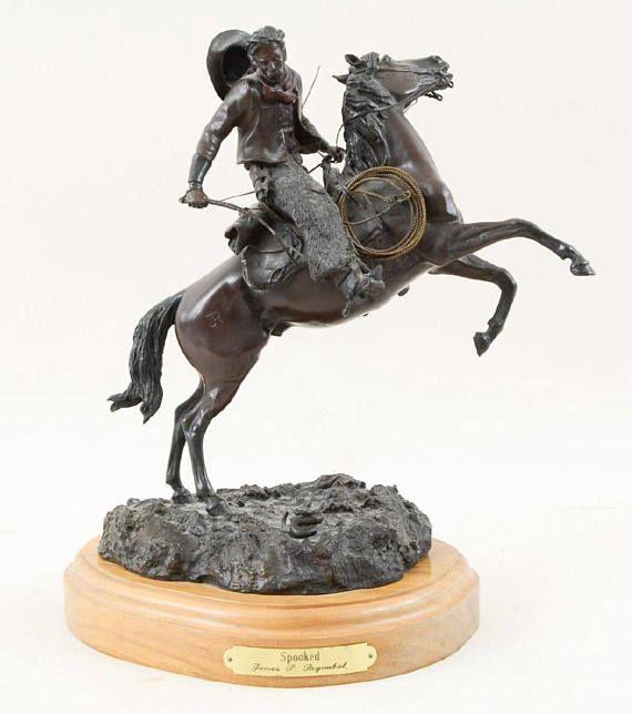 Western Bronze Art Spooked by James P. Regimbal