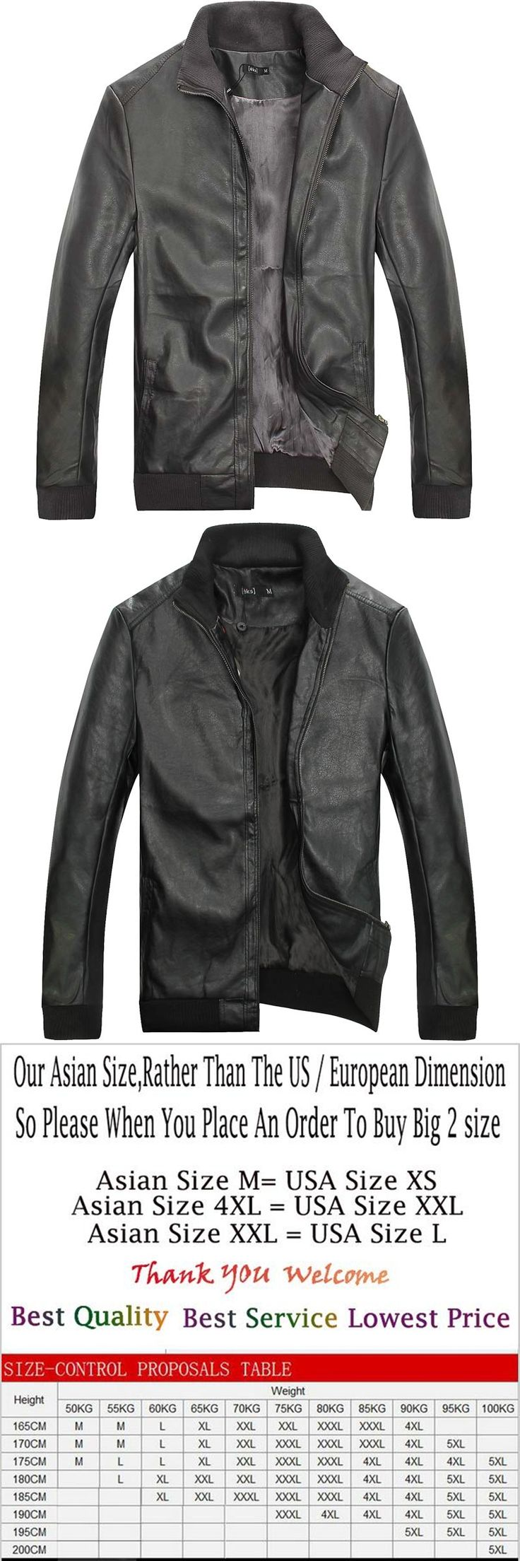 Mens Brand Motorcycle Leather Jacket Men Faux Leather Coats Jaqueta De Couro Masculina Mens Leather Jackets Zip Leather Coats