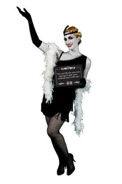MCCFO20S Silent Movie Starlet Fancy Dress Costume