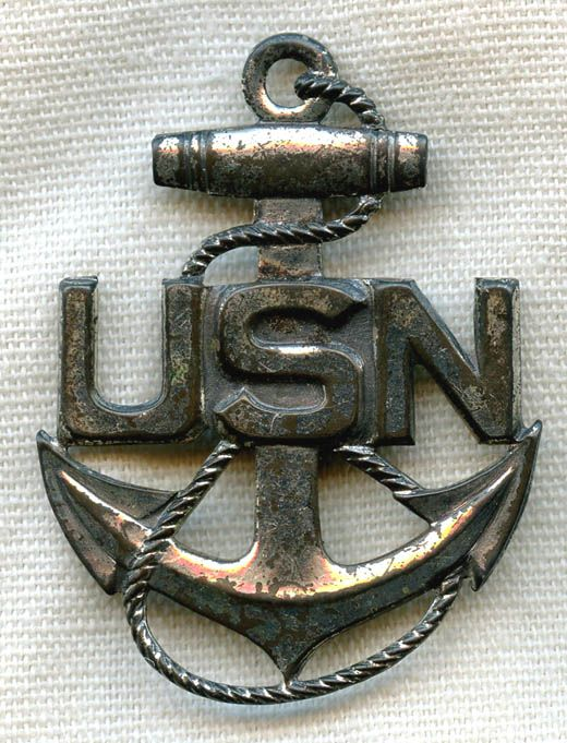 Nice Sterling Anchor US Navy Sweetheart Pin