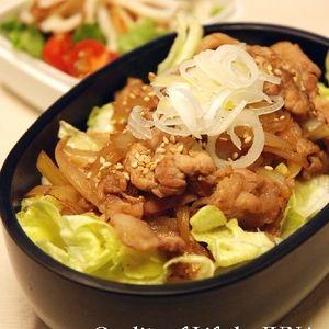 簡単豚丼弁当