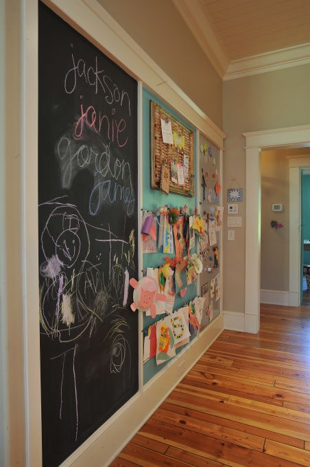 Art Zone. Great for wall into laundry room. Display art, create art. Important papers for school
